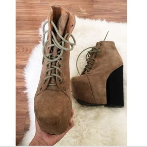 Jeffrey Campbell Freda Taupe Suede